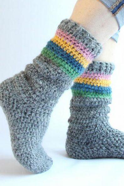 crochet-shell-socks-pattern