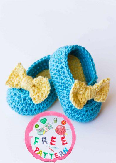 lemon-drop-baby-booties-model-free-crochet-pattern