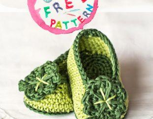 st-patricks-day-shamrock-baby-booties-model-free-pattern