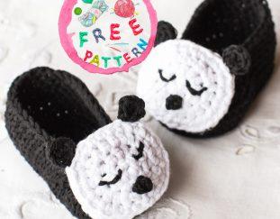 sleepy-panda-baby-booties-free-crochet-pattern