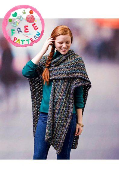 woodland-ruana-wrap-free-knit-pattern