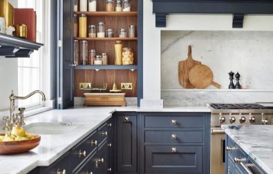 summer-in-your-home-for-four-seasons-with-blue-kitchen-cabinets